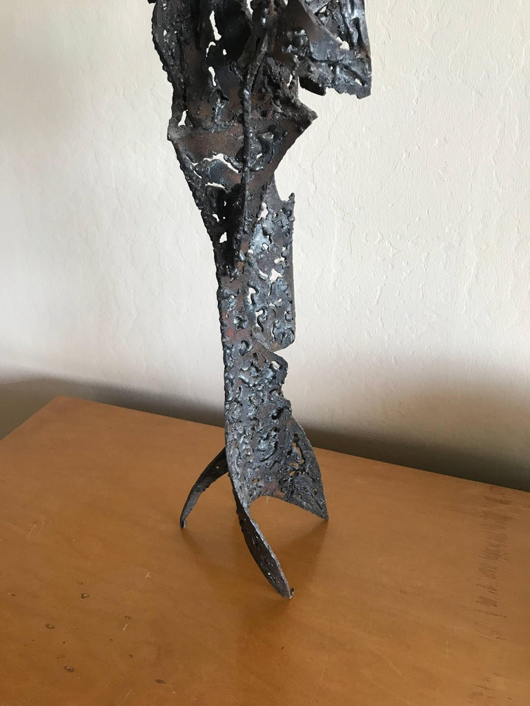 American 1950s Bay Area Abstract Sculpture by Winfreg Ng (1936-1991) For Sale