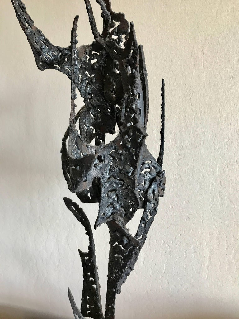 Mid-20th Century 1950s Bay Area Abstract Sculpture by Winfreg Ng (1936-1991) For Sale