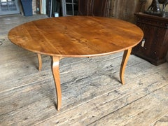 French Provincial Round Farm Table in Cherry