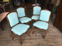 Set of Four Louis XV Style Side Chairs