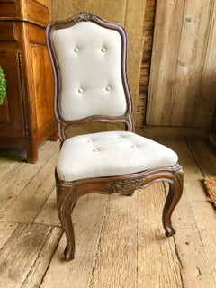 Set Of 6 Italian Louis XV Style Dining Chairs, C. 1800