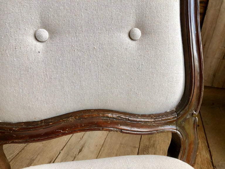 Set of Six Italian Louis XV Style Dining Chairs, circa 1800 For Sale 7