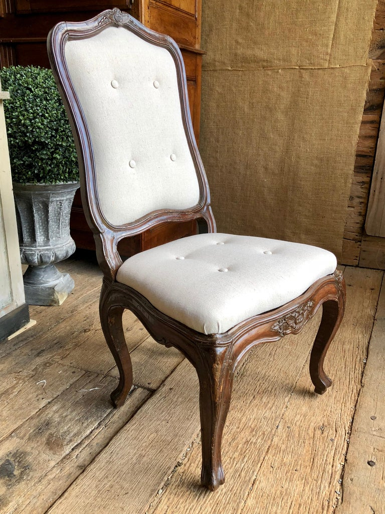 Set of Six Italian Louis XV Style Dining Chairs, circa 1800 For Sale 8