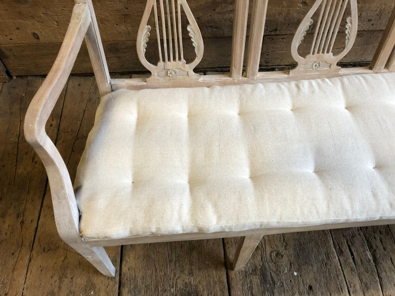 Walnut Neoclassic Bench, French, circa 1800 For Sale