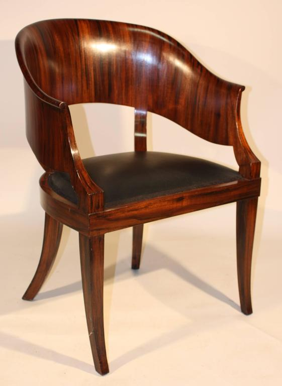 French art deco desk chair at 1stdibs for Chaise bridge art deco