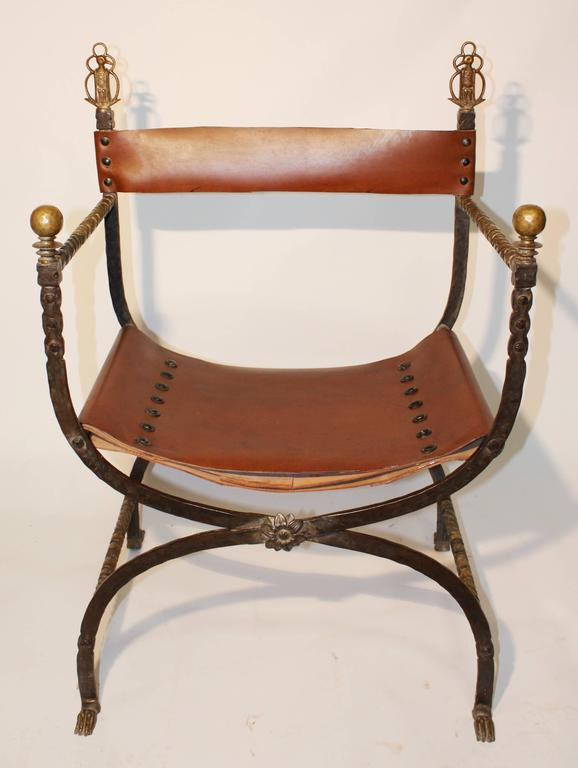 Folding Campaign Chair By Oscar Bach 1930s At 1stdibs