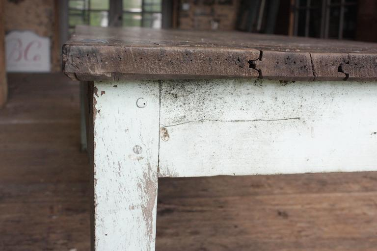 Rustic french country farm table for sale at 1stdibs for Rustic farm tables for sale