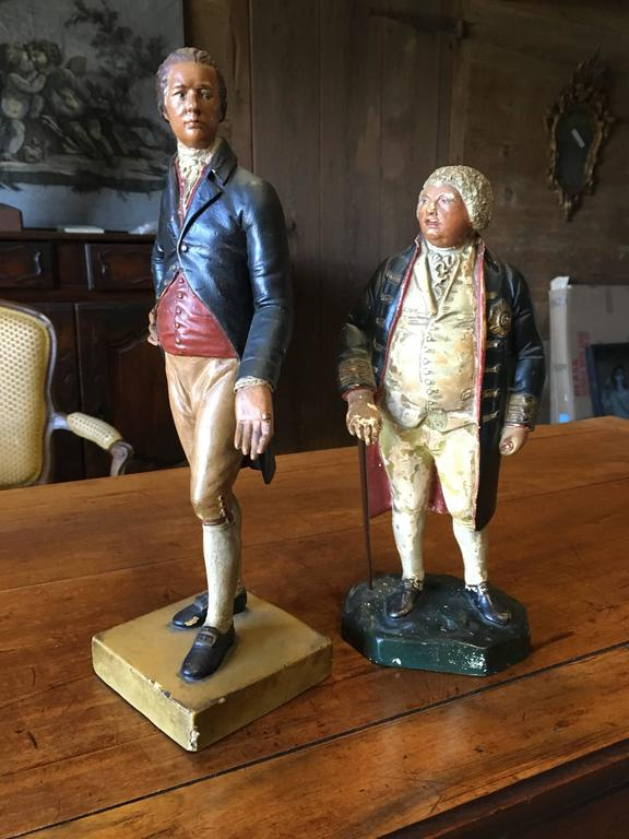 Two 19th Century Chalkware Figures In Good Condition For Sale In Doylestown, PA