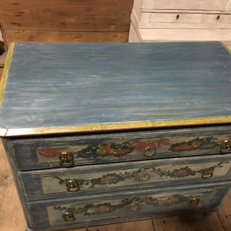 Country Early 19th Century Painted Commode, Continental For Sale