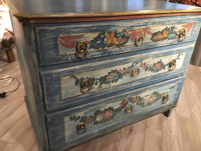 Early 19th Century Painted Commode, Continental For Sale 2