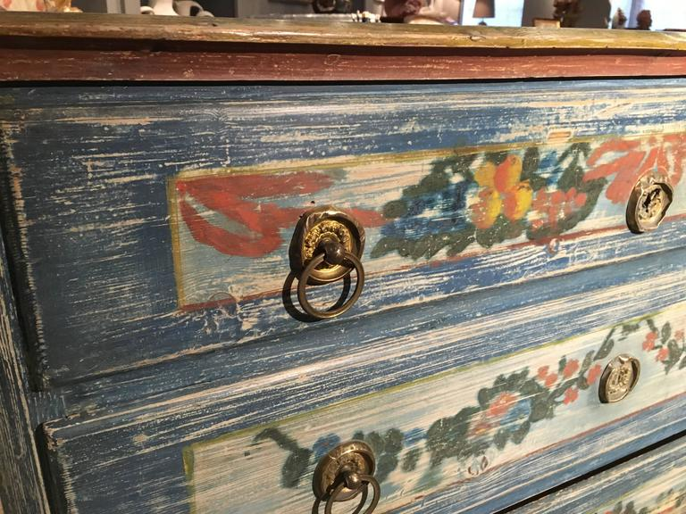 Early 19th Century Painted Commode, Continental For Sale 4
