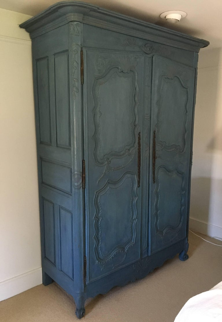 Painted French Louis XV Period Armoire, circa 1780 For Sale