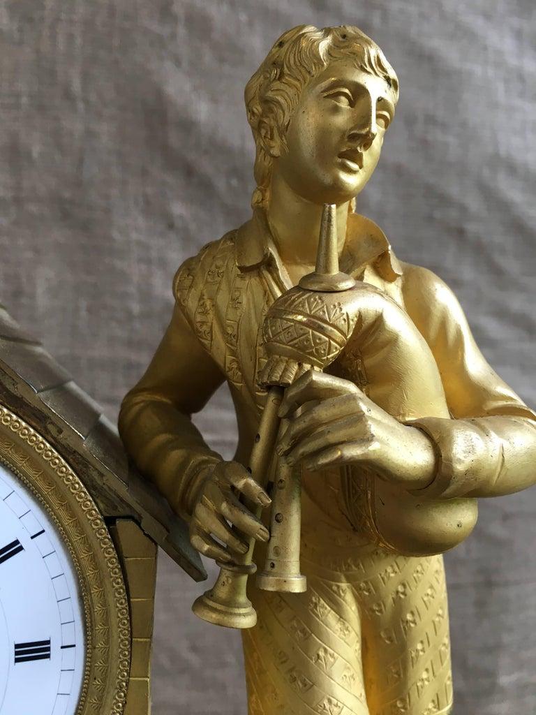 French Empire Figural Mantel Clock Circa 1805 For Sale At