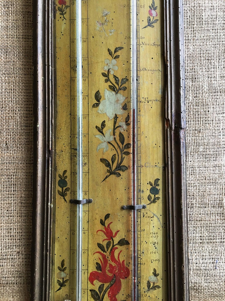18th Century Louis XVI Period Thermometer and Barometer In Good Condition For Sale In Doylestown, PA
