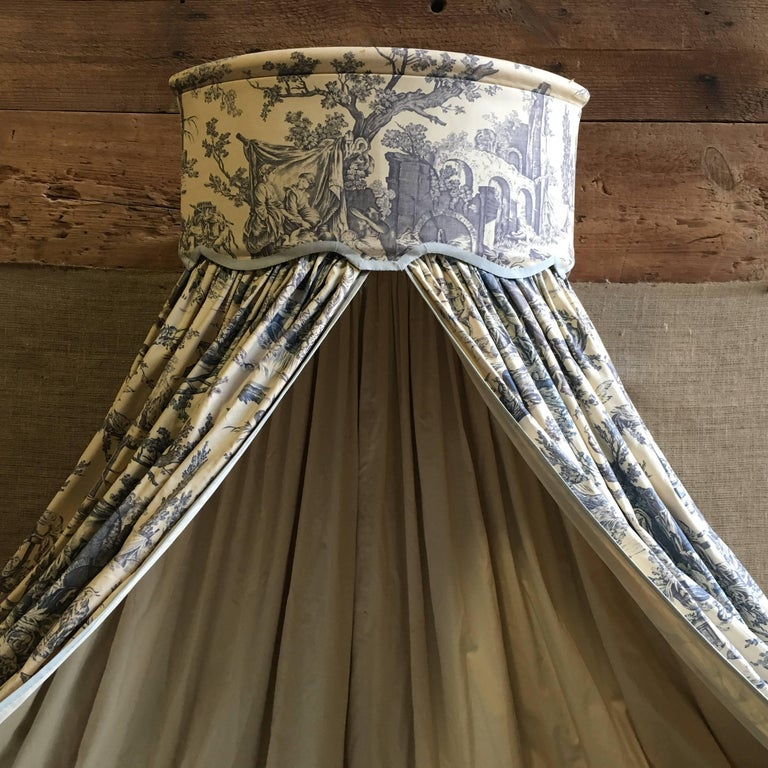 Fabric French Louis XVI Canopy Bed, Early 19th Century For Sale