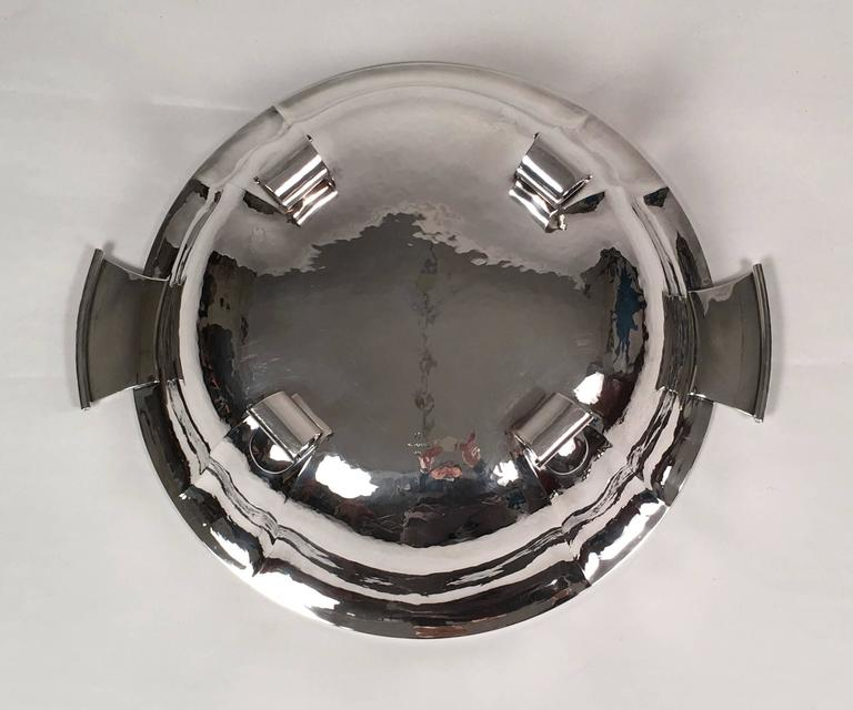 Sterling Silver Swiss Silver Covered Tureen by Baltensperger, circa 1920s For Sale