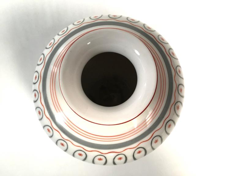 Art Deco German Porcelain Vase, circa 1930 For Sale 1