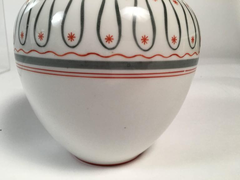Art Deco German Porcelain Vase, circa 1930 In Excellent Condition For Sale In Essex, MA