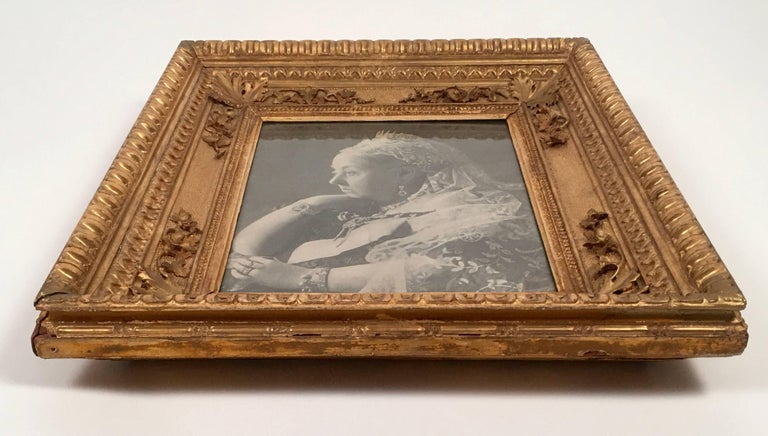 19th Century Diamond Jubilee Portrait of Queen Victoria in Antique Giltwood Frame For Sale