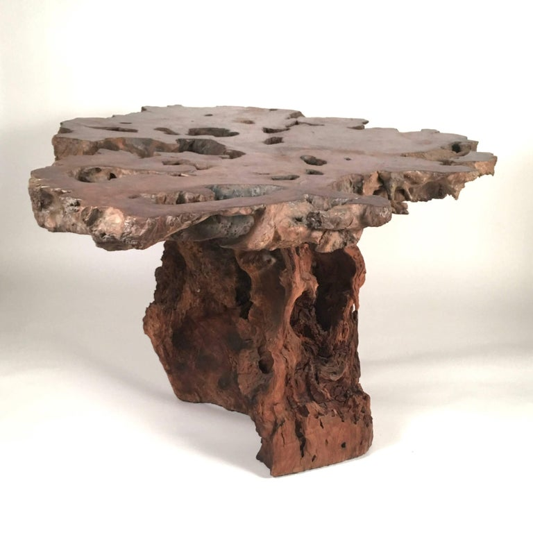 California Redwood Coffee Table: California Redwood Center Table For Sale At 1stdibs