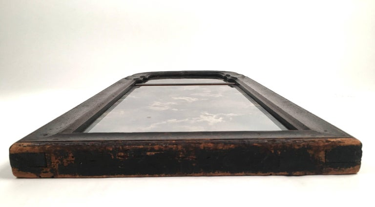 Early Queen Anne Black Japanned Chinoiserie Mirror For Sale 1