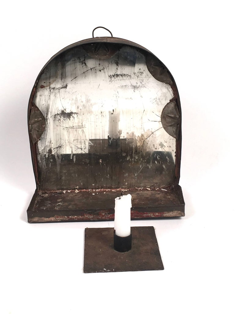 Early american country tin mirrored wall sconce for sale - Early american exterior lighting ...