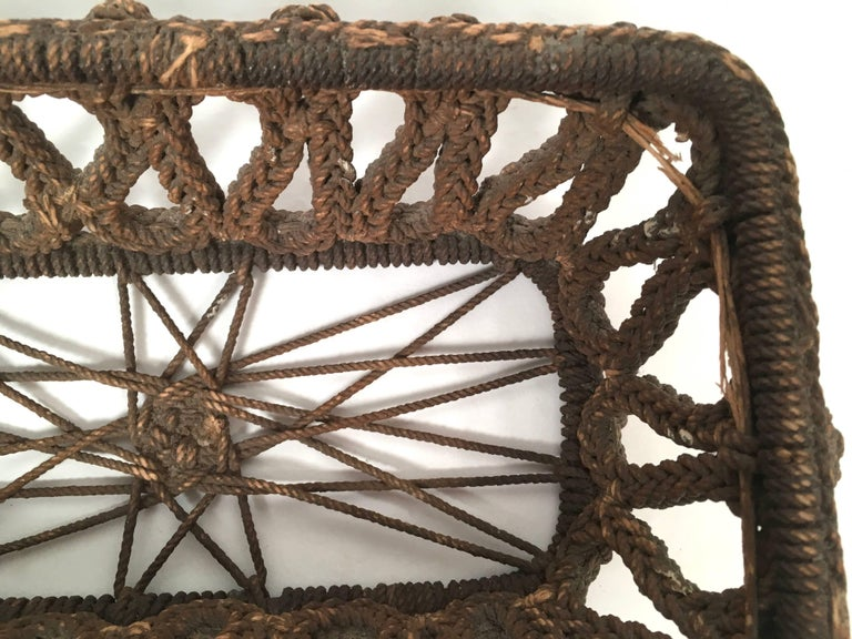 19th Century Sailor Made Ropework Basket 4