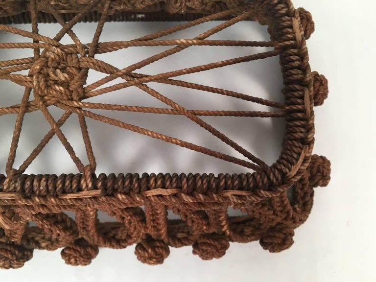 19th Century Sailor Made Ropework Basket 6