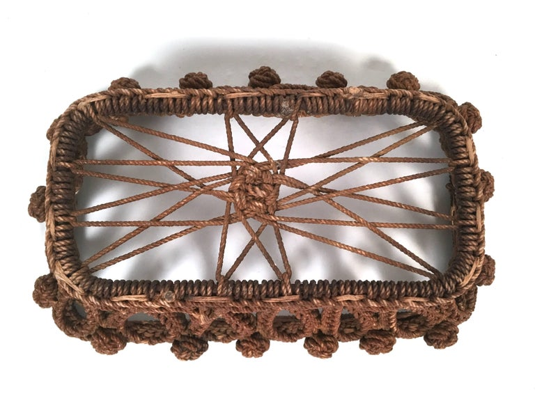 19th Century Sailor Made Ropework Basket 9