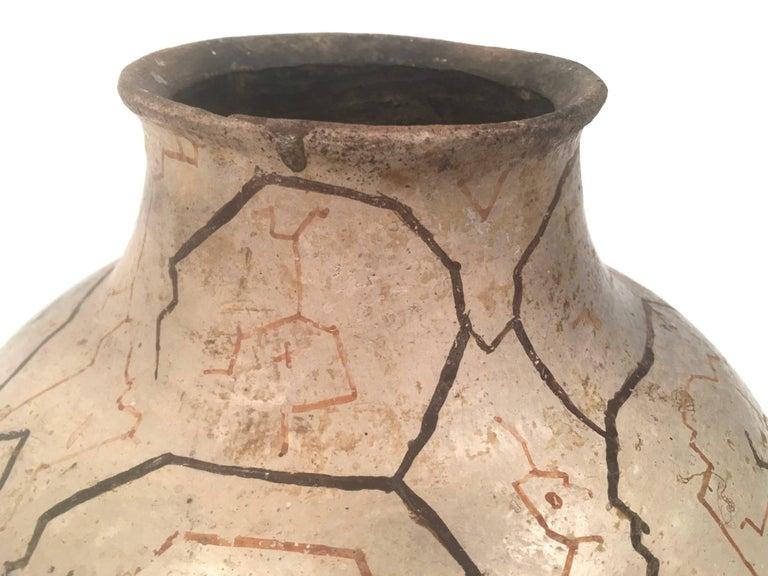 Hand Painted Peruvian Shipibo Pottery Vase For Sale At 1stdibs