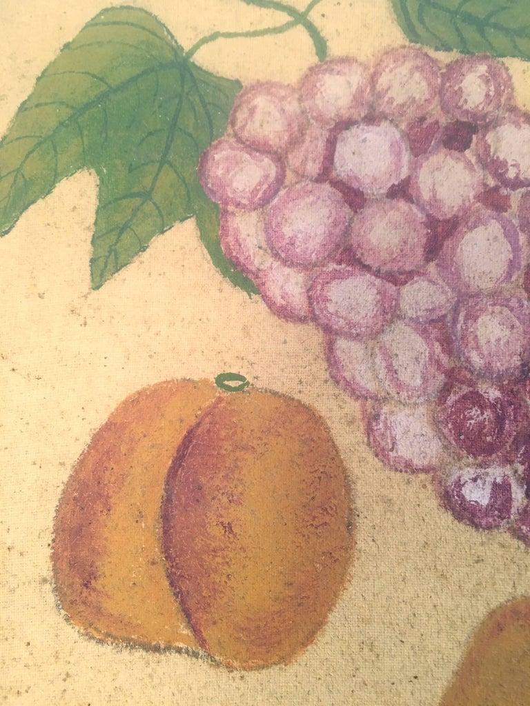 Late 19th Century American Folk Art Fruit Still Life Theorem Painting, circa 1895 For Sale
