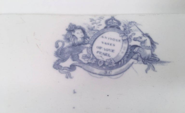 Earthenware Blue and White Neoclassical Staffordshire Platter with Provenance For Sale