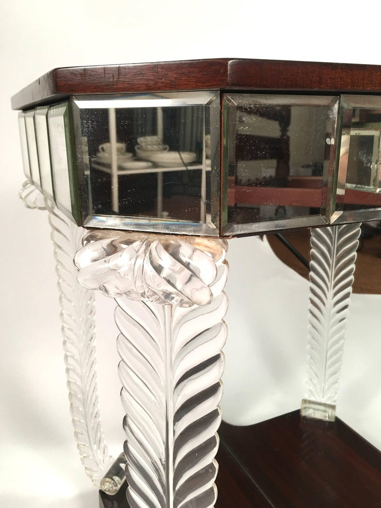 Pair of 1930s Grosfeld House Hollywood Regency Acanthus Leaf Tables For Sale 2