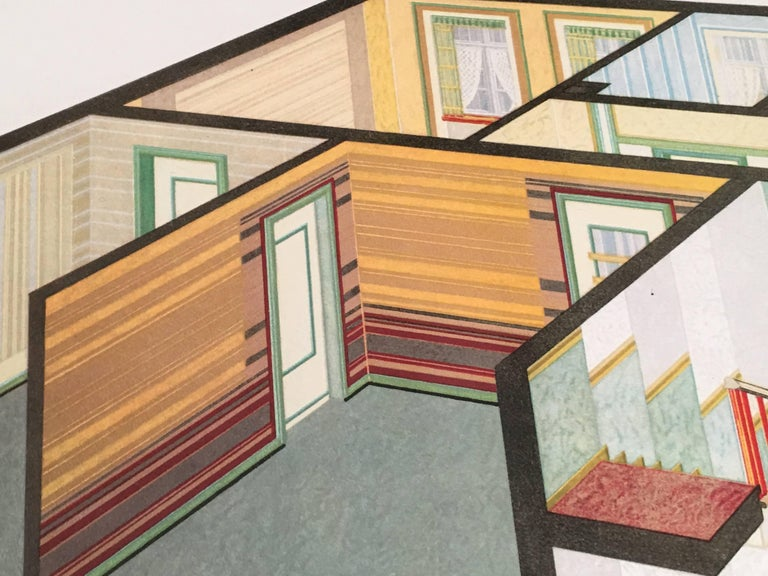 Set of Four Art Deco German Interior Prints For Sale 5