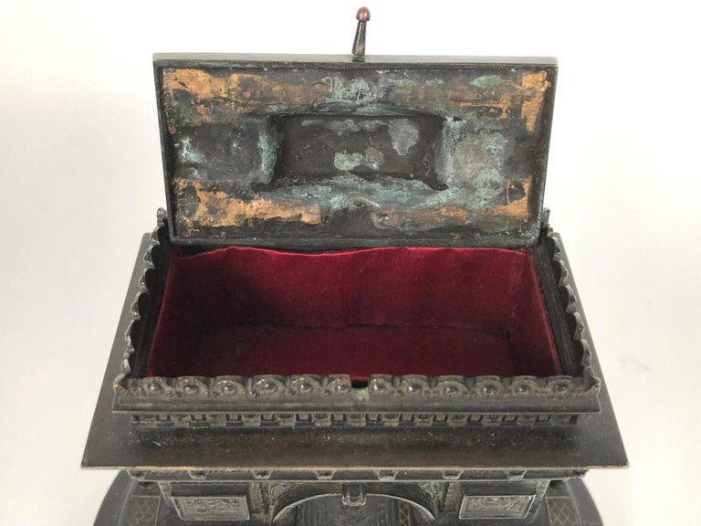 19th Century Grand Tour Bronze Architectural Model of the Arc De Triomphe, Paris For Sale 4