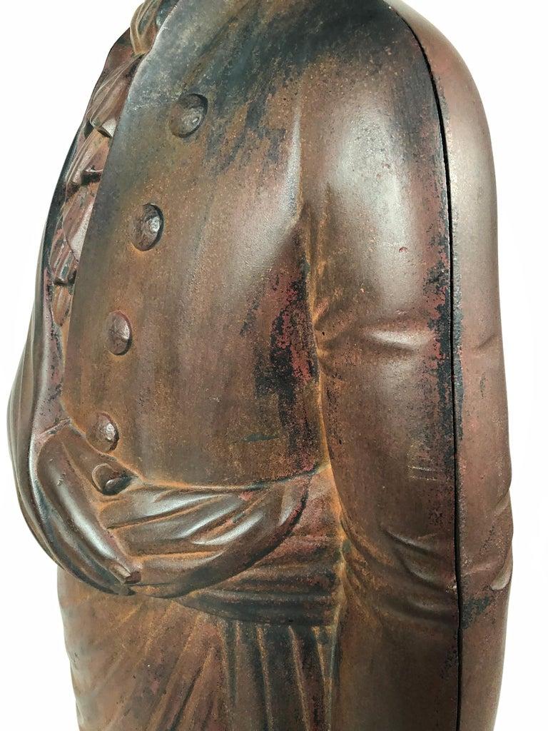 Large 19th Century George Washington Cast Iron Stove Figure For Sale 2