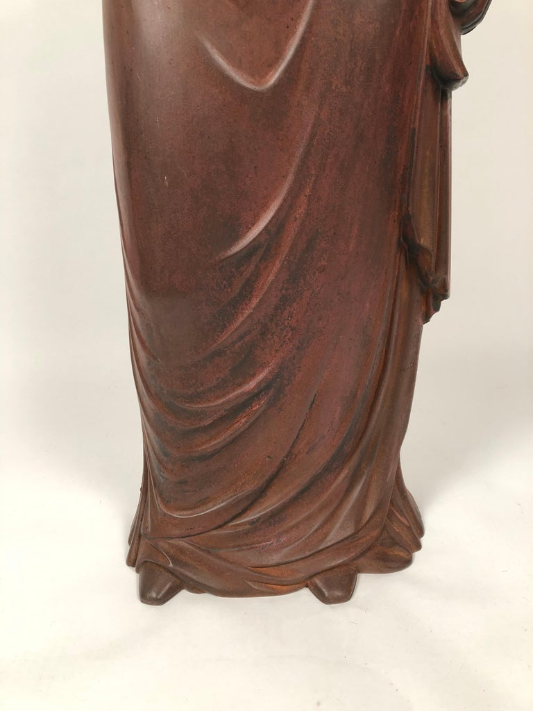 Large 19th Century George Washington Cast Iron Stove Figure For Sale 4