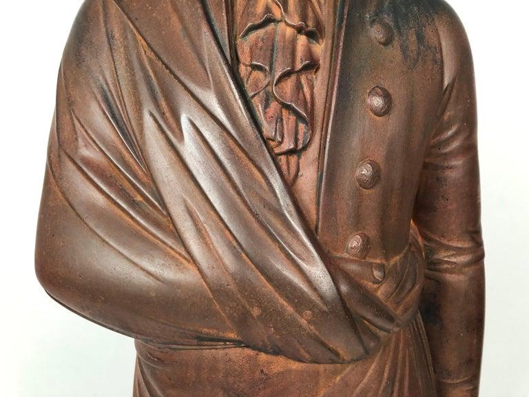 Large 19th Century George Washington Cast Iron Stove Figure For Sale 1