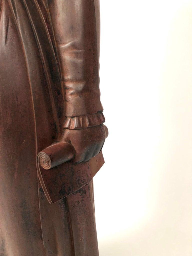 Large 19th Century George Washington Cast Iron Stove Figure For Sale 3