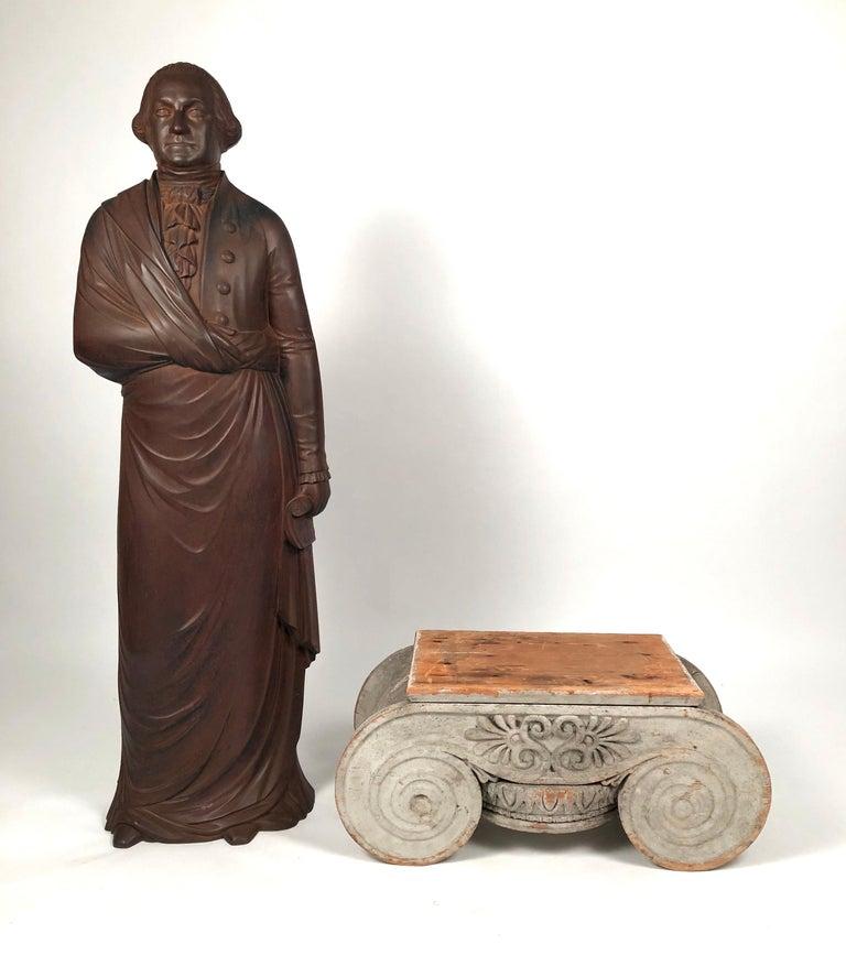 Large 19th Century George Washington Cast Iron Stove Figure For Sale 6
