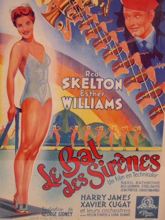French Movie Poster for Hollywood Movie Bathing Beauty In Good Condition For Sale In Essex, MA