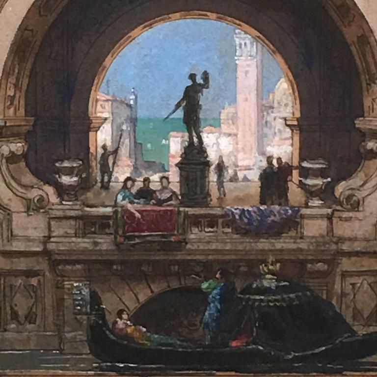Henri Mayeux Pastel of Venice 4