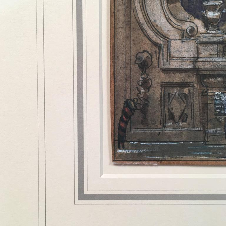 Henri Mayeux Pastel Drawing of Venice For Sale 1
