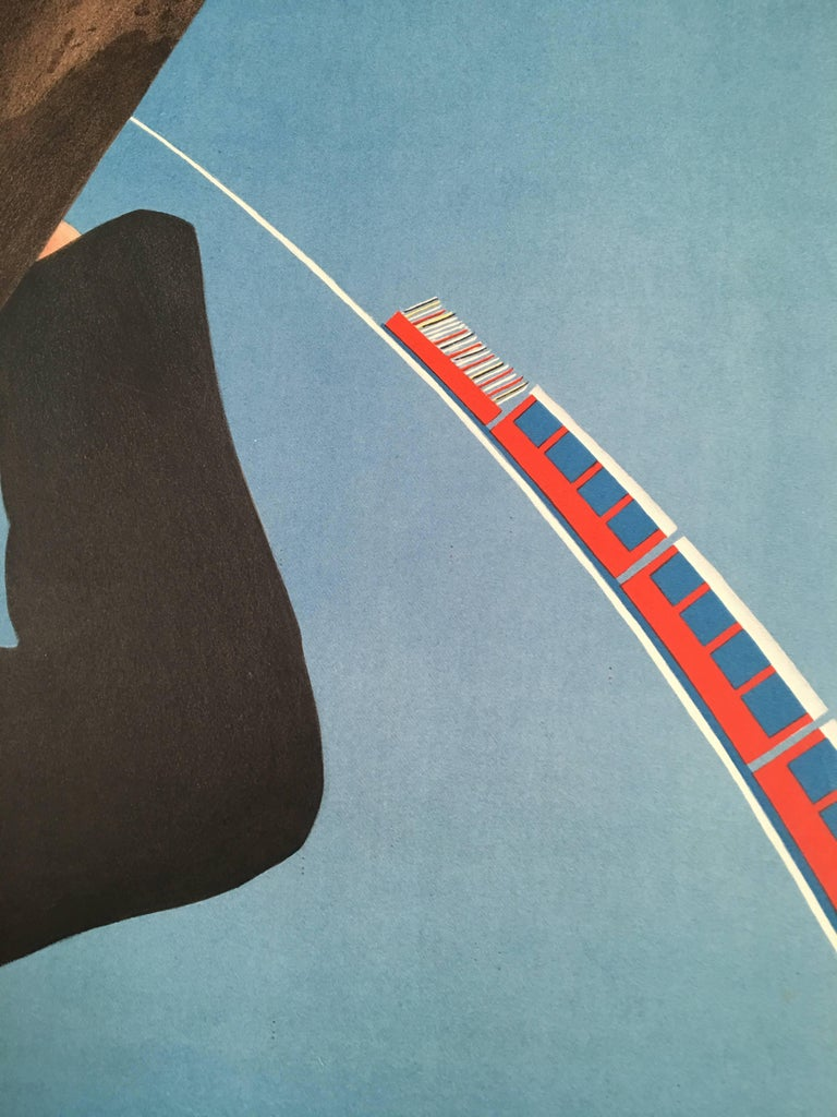 Paper Wengen Swiss Ski Poster by P. Senn and P. Marti For Sale