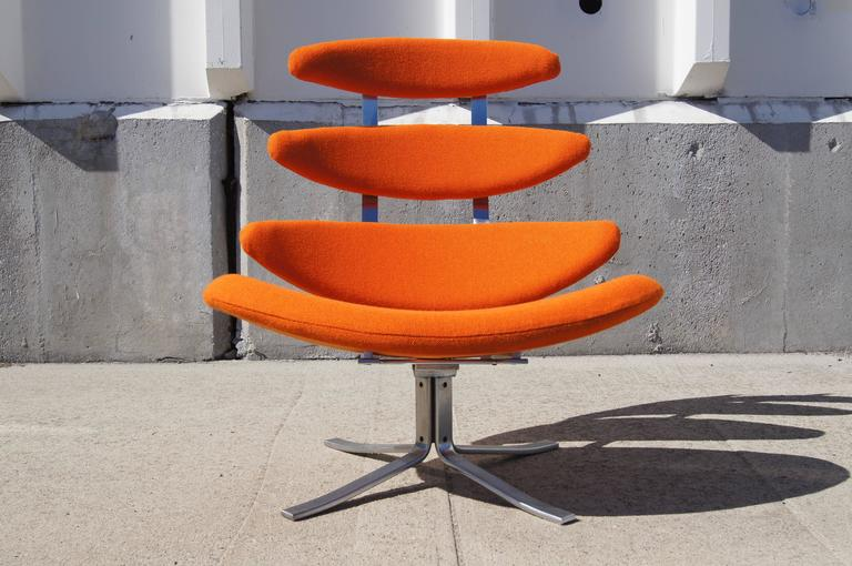 Mid-Century Modern Corona Chair, Model EJ-5, by Poul M. Volther for Erik Jørgensen For Sale
