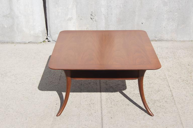 Mid-Century Modern Saber Leg Coffee Table by T.H. Robsjohn-Gibbings for Widdicomb For Sale