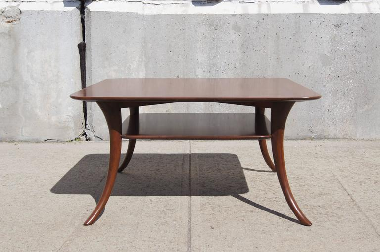 American Saber Leg Coffee Table by T.H. Robsjohn-Gibbings for Widdicomb For Sale