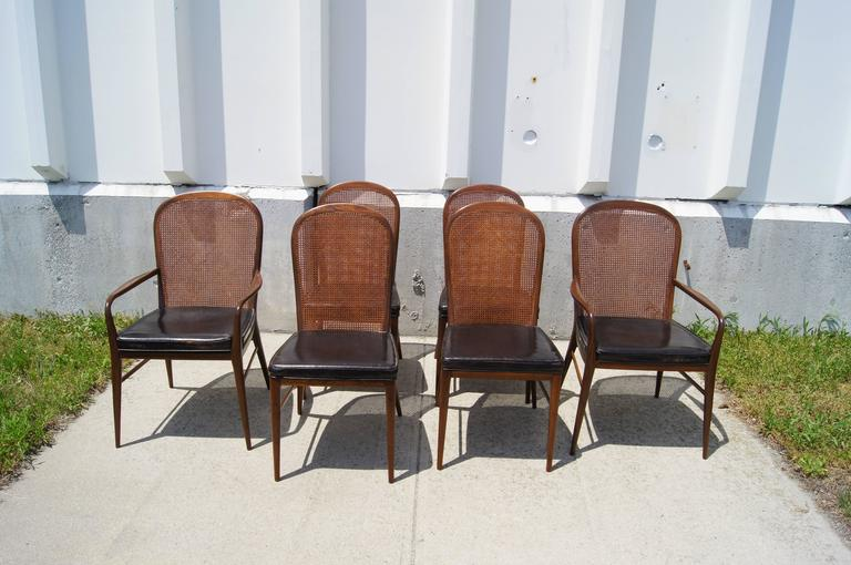 Rare Set Of Cane Dining Chairs By Paul McCobb For H. Sacks 3