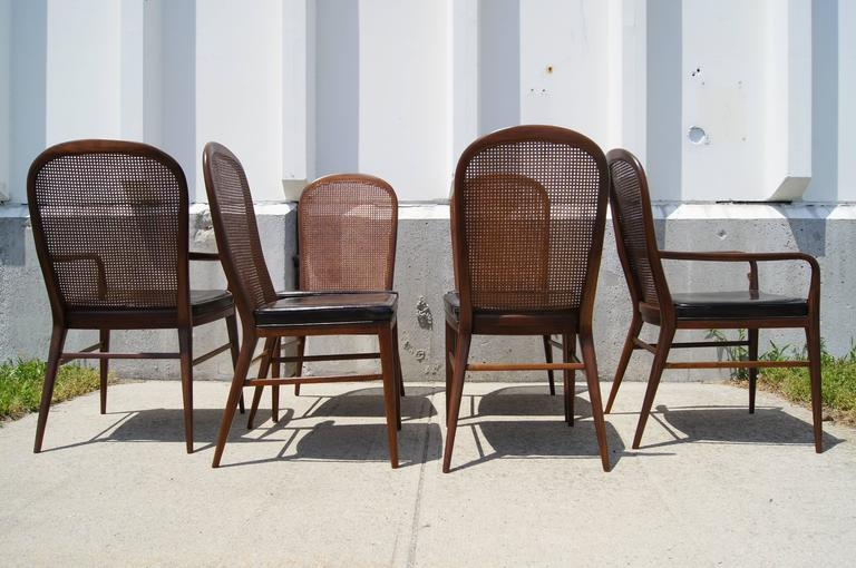 American Rare Set Of Cane Dining Chairs By Paul McCobb For H. Sacks For Sale