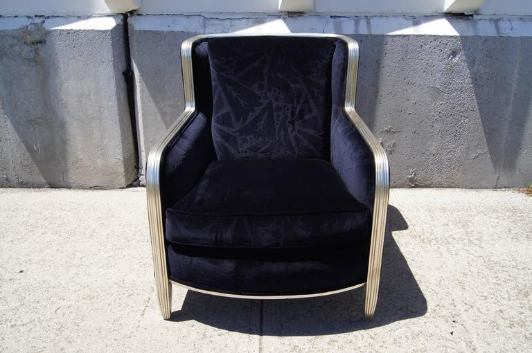 20th Century Deco-Style Club Chair by Interior Crafts For Sale
